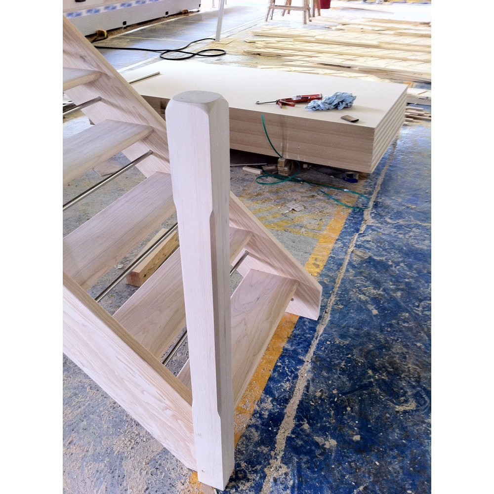 Hemlock 90mm Chamfered & Shaped Post