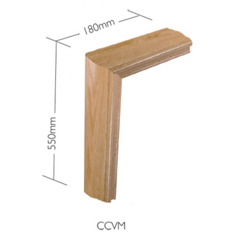 White Oak Craftmans Choice Handrail Vertical mitre