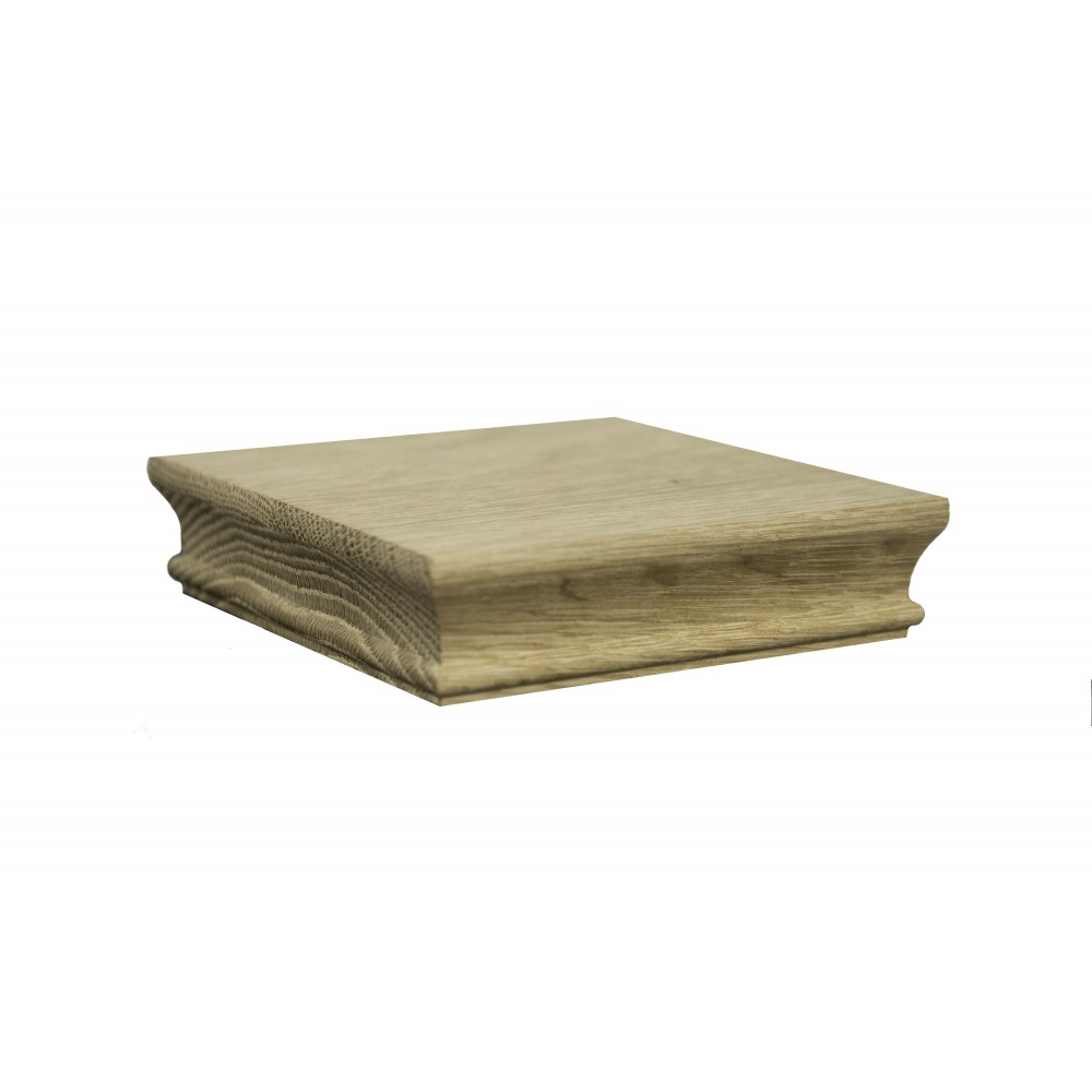 White Oak Flat Moulded Cap