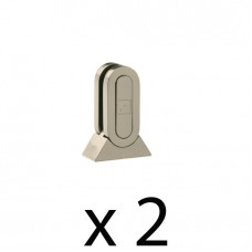 Brushed Nickel Glass Panel Brackets