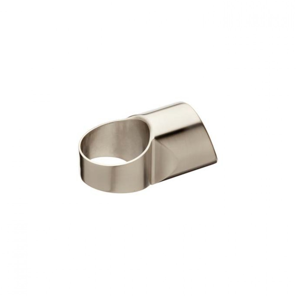 Fusion Half Landing Connector Brushed Nickel