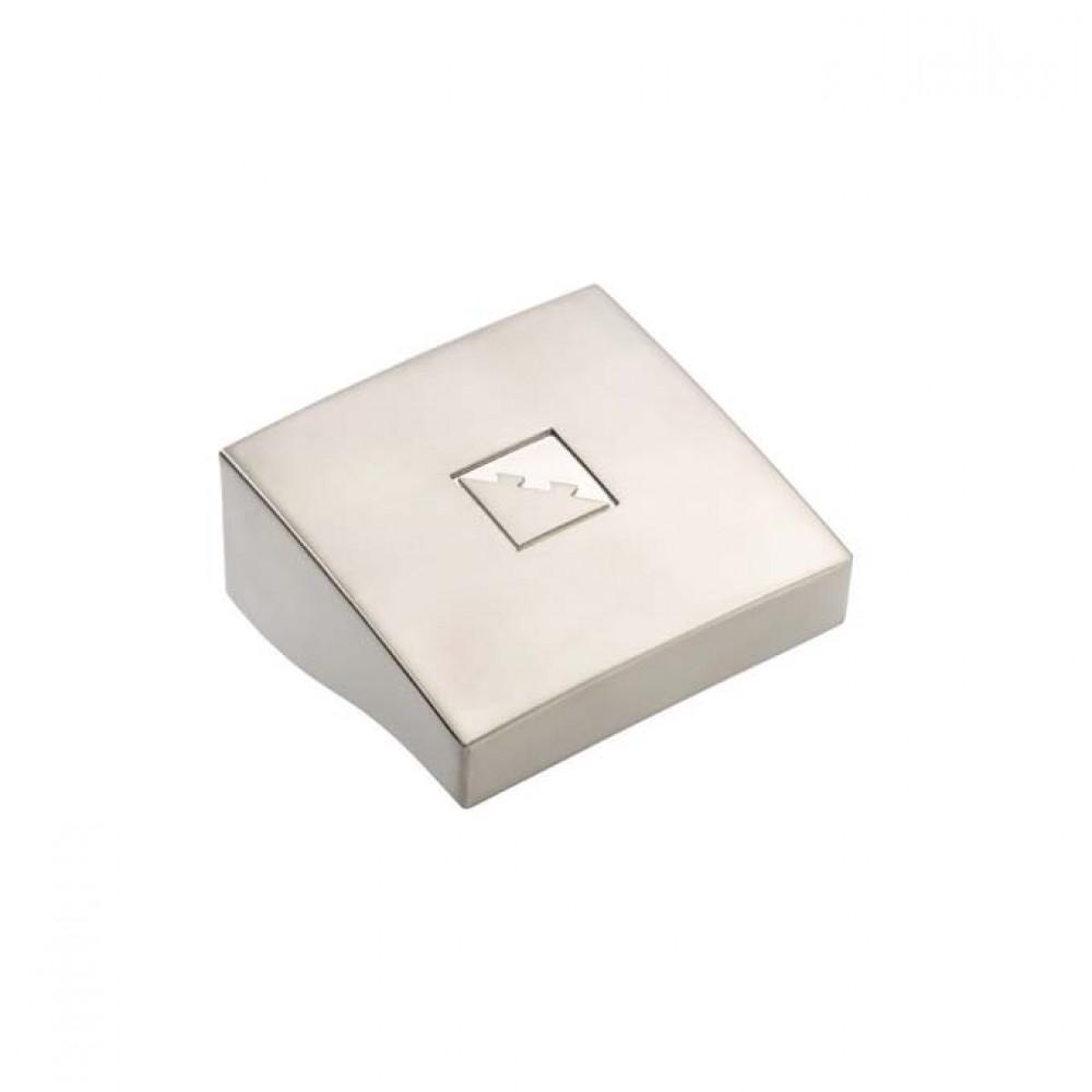 Fusion Square Newel Cap 90mm Brushed Nickel