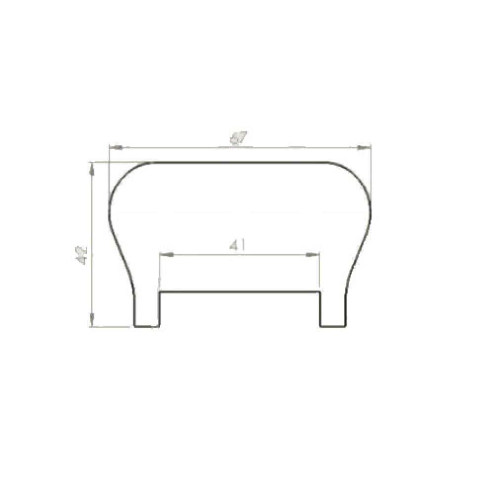 White Oak Ikon Handrail