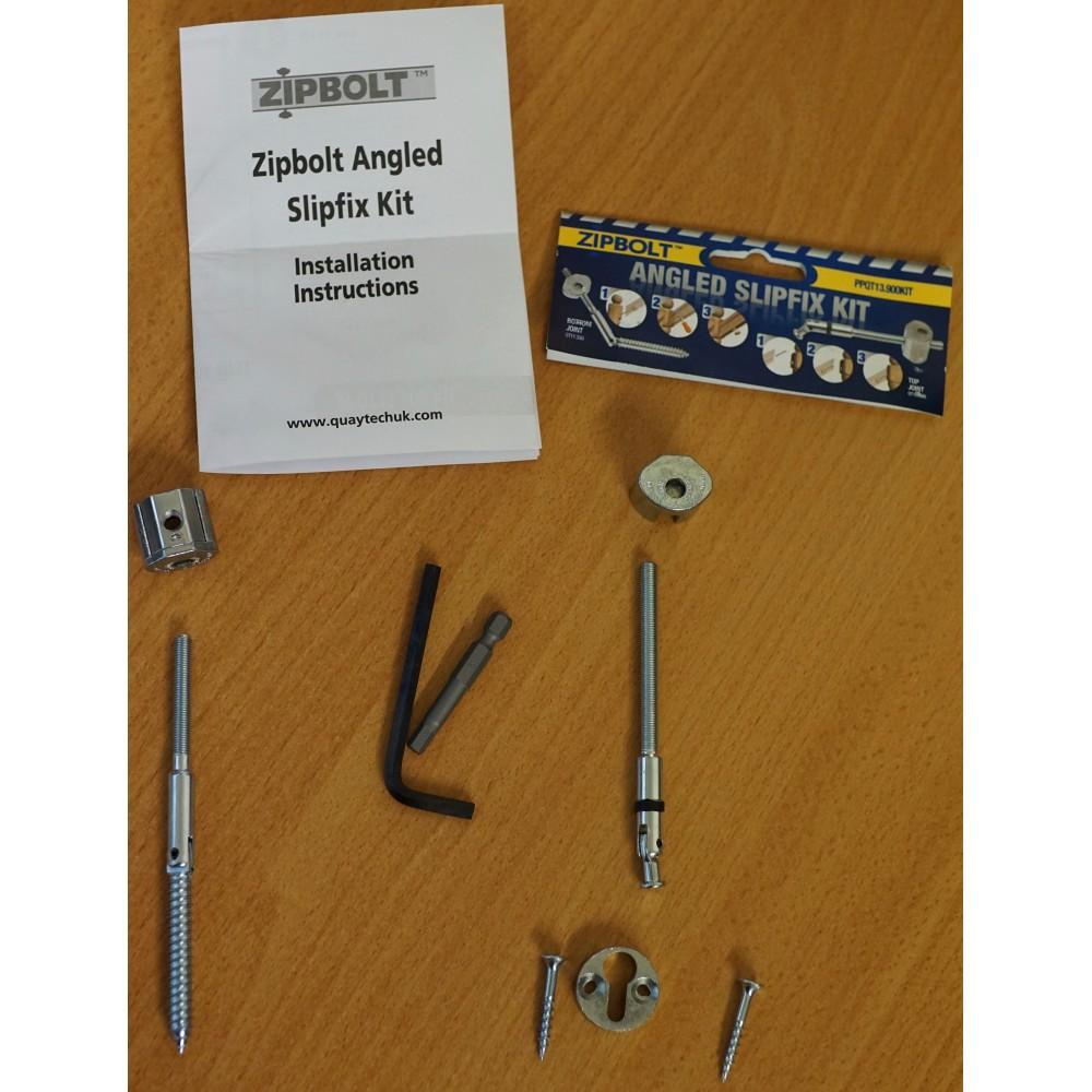 Angled Handrail To Post Fixing Kit (Zipbolt Slipfix)