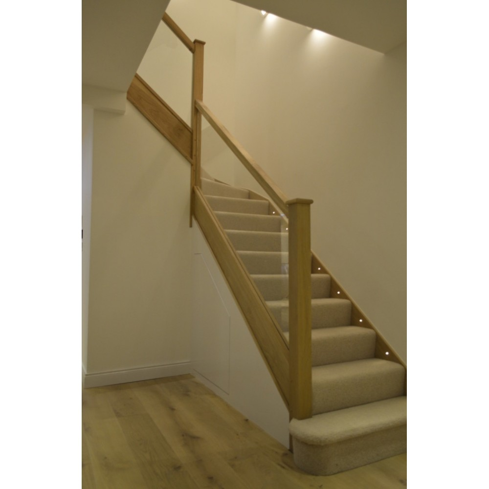 White Oak Square Handrail