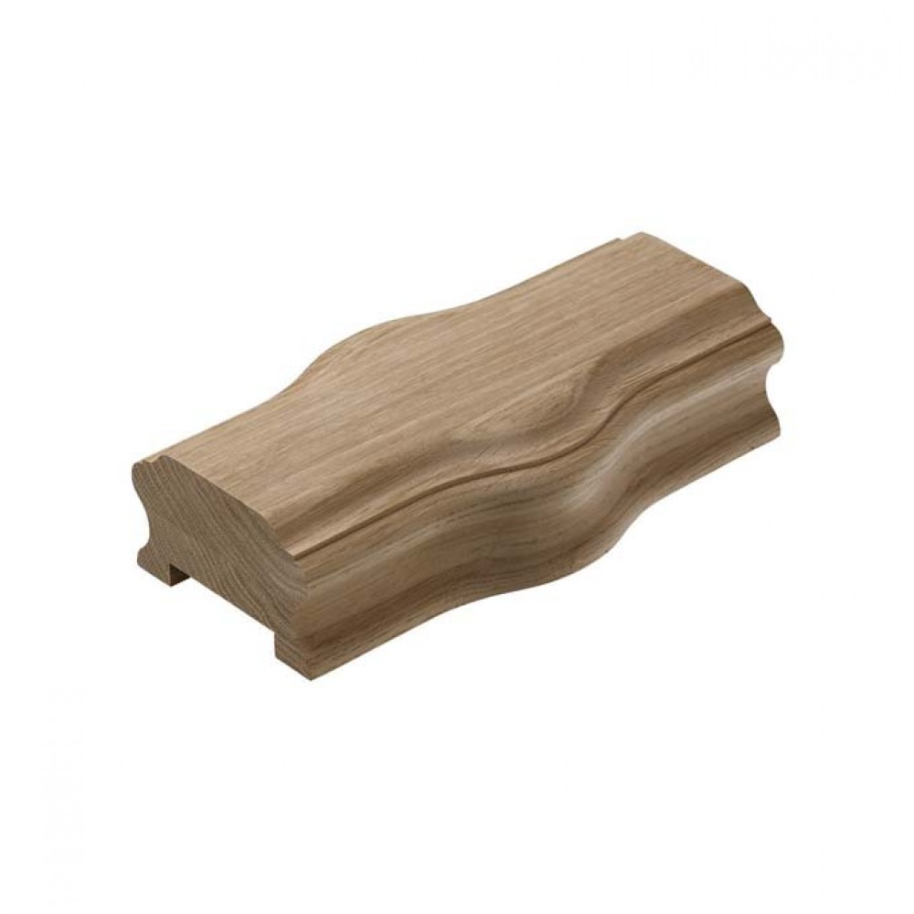 White Oak Heritage Handrail Straight Cap For 55mm Spindles