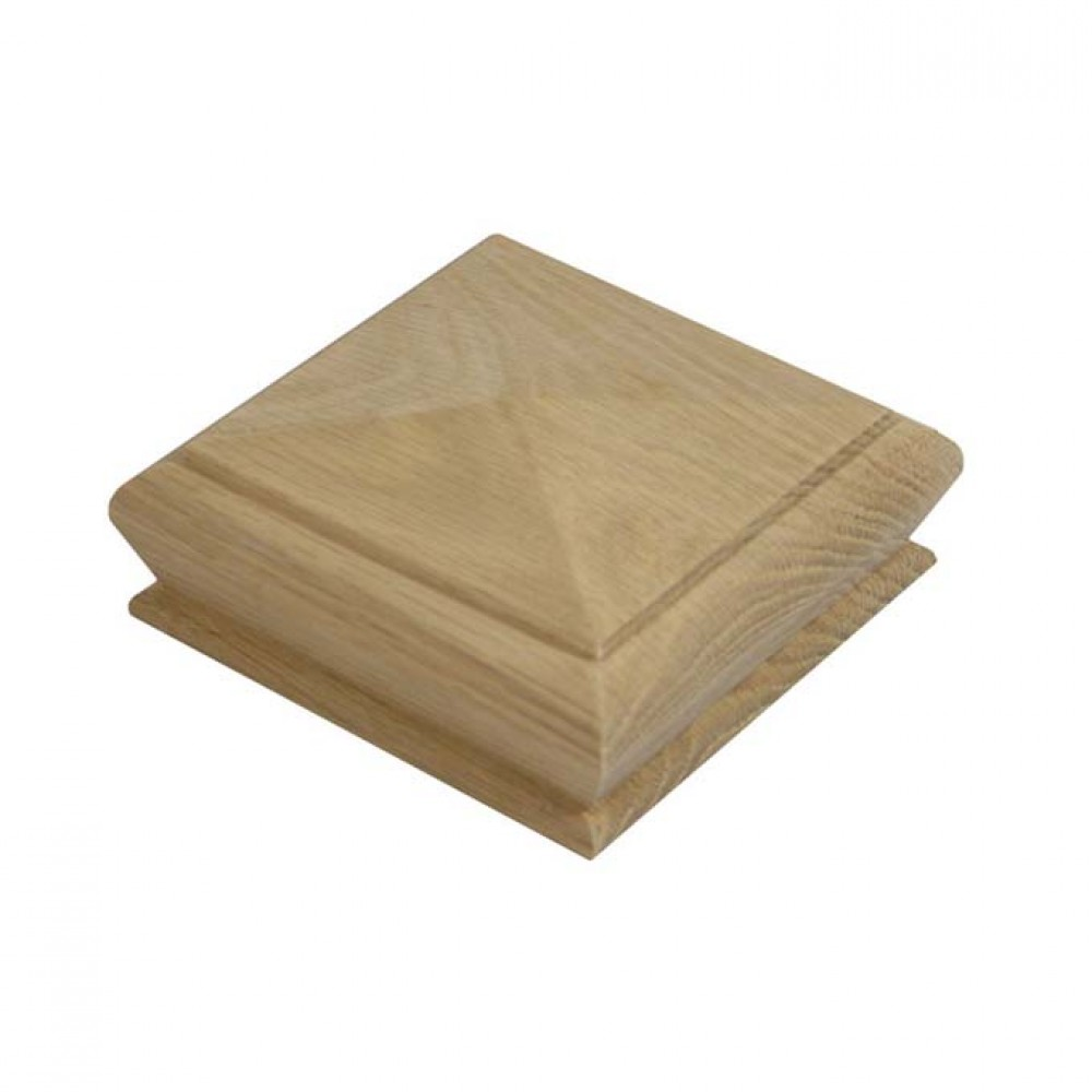 White Oak Pyramid Cap For 115mm Square Post