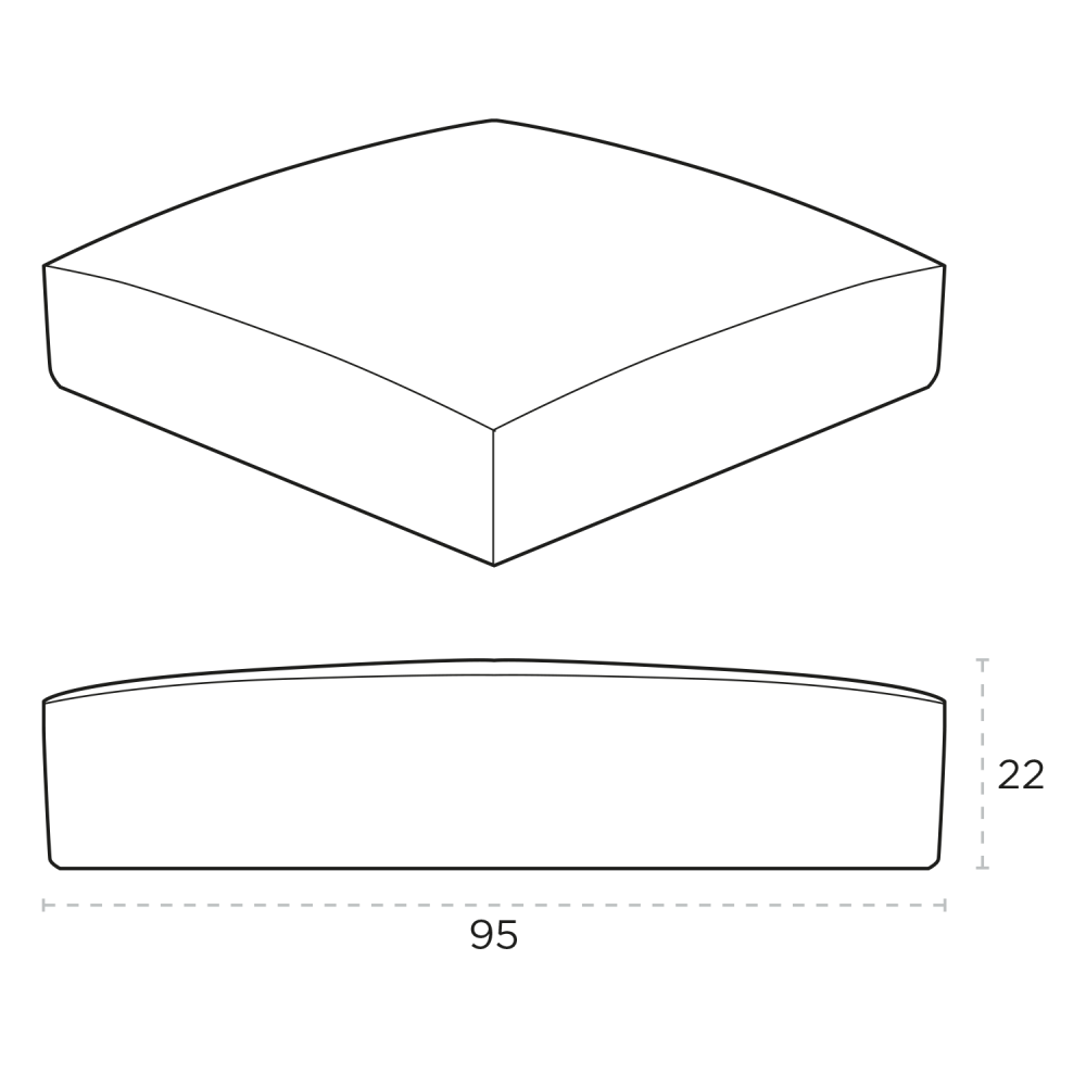 Full Cap With Dimensions
