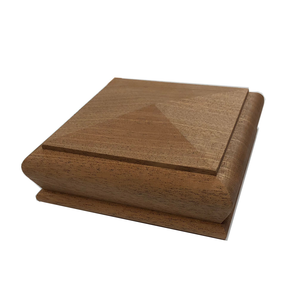 Sapele Pyramid Cap for 90x90mm Post