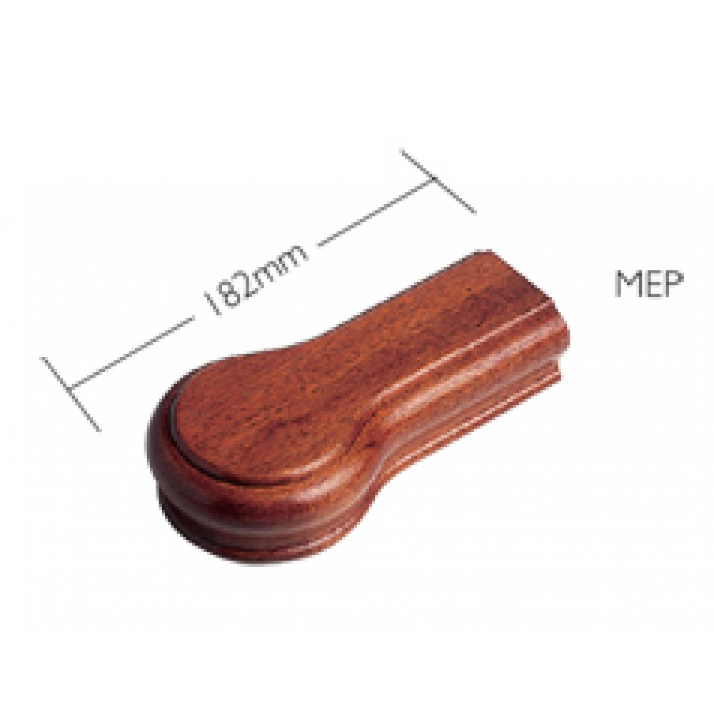 Sapele Signature Handrail End Piece