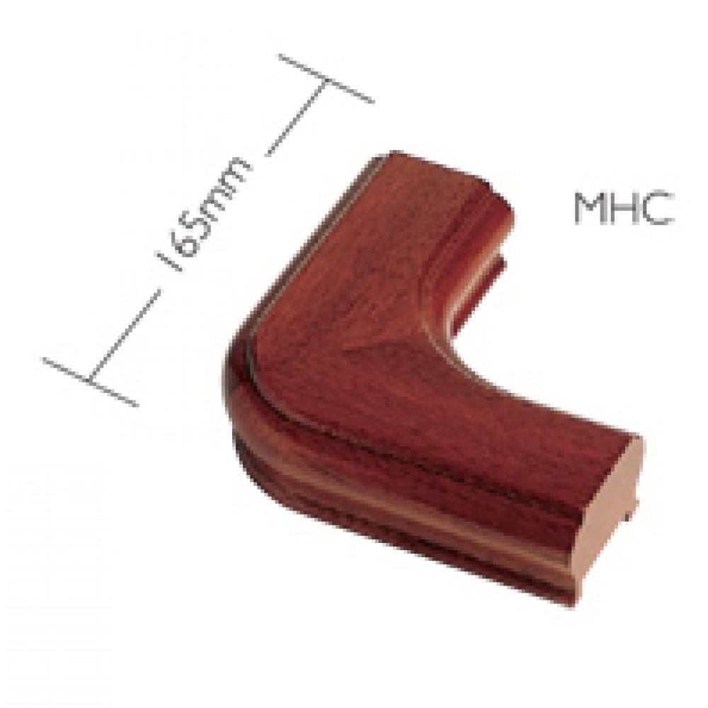 Sapele Signature Handrail Horizontal Corner Piece
