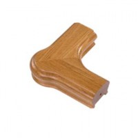 White Oak Signature Handrail Newel Corner product image