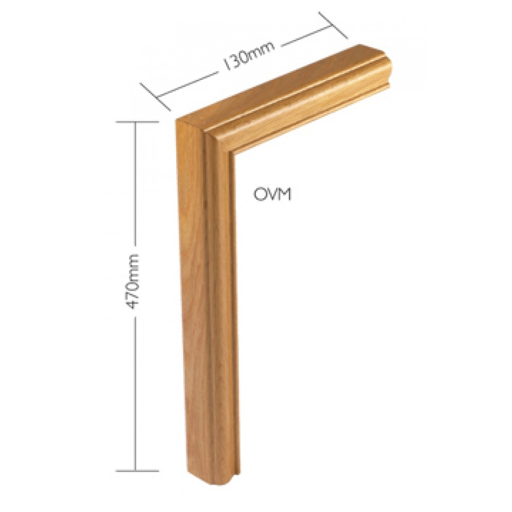 White Oak Signature Handrail Vertical mitre
