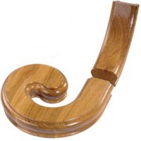 White Oak Signature Handrail Volute With Upramp - Left Handed product image