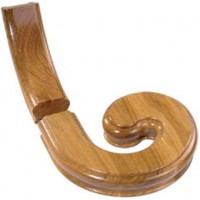 White Oak Signature Handrail Volute With Upramp - Right Handed product image