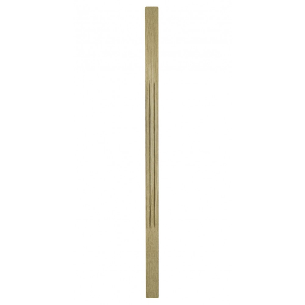41mm White Oak Trademark Chamfered Flute Spindle