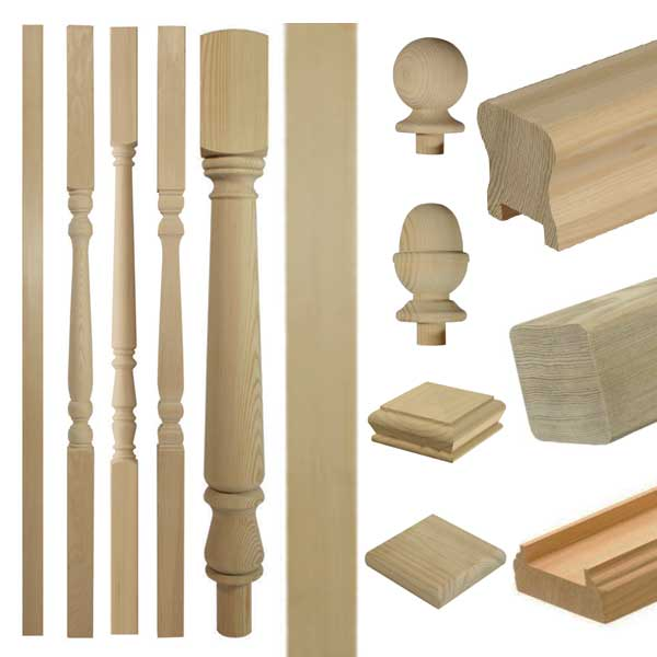 Hemlock stair parts