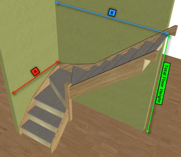 Made To Measure White Oak 3 Kite Winder Staircase