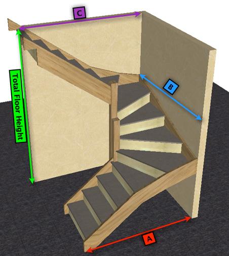 Made To Measure White Oak U0026 MDF/Ply 6 Kite Winder Staircase