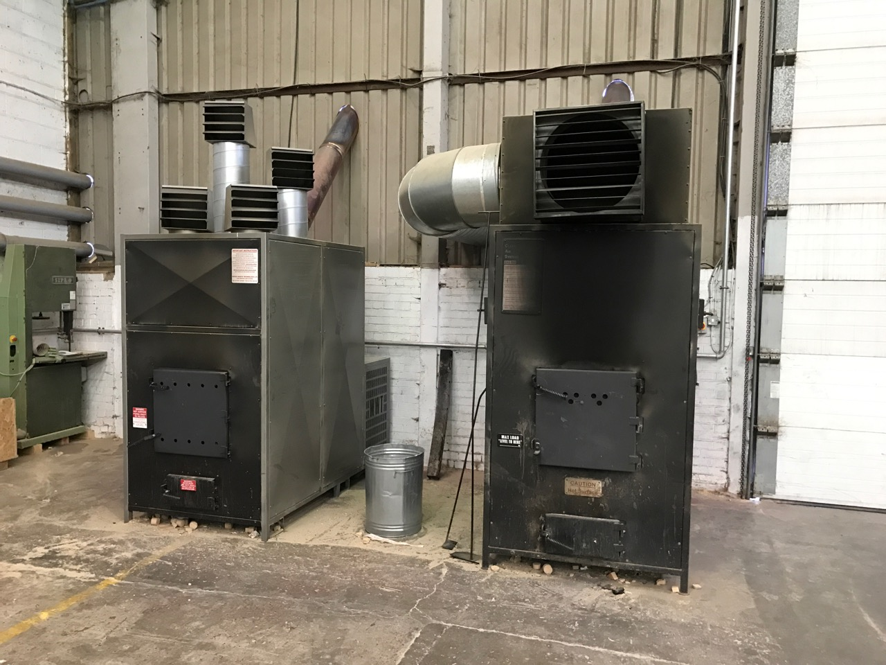 Wood burner to heat factory