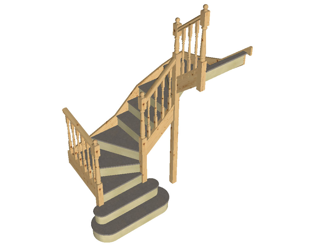 Tkstairs Guide On How To Measure A Double Turn Staircase