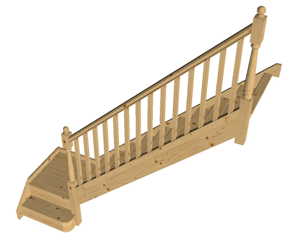 TKStairs: Guide on how to measure a single turn staircase